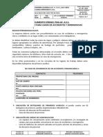 DOCUMENTO CODIGO N° PGG-AF.4.3.1. PROCEDIMIENTO PARA CASOS DE ACCCIDENTES Y EMERGENCIAS