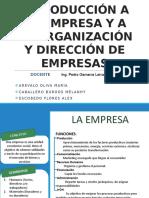 Introducción a La Empresa y a La Organización y Dirección de Empresas