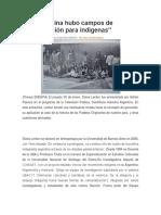 En Argentina Hubo Campos de Concentración Para Indígenas