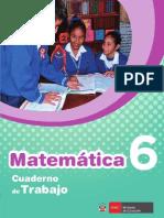 Cuaderno de Trabajo Matemática 6° PRIMARIA - MINEDU - 2017- Unidad 1 - DESARROLLADO
