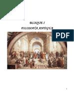 Bloque 1 - Filosofía Antigua