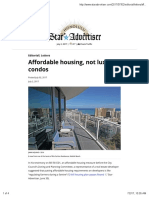 Affordable Housing, Not Luxury Condos