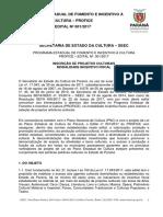 Edital PROFICE (Paraná) - 2017.1