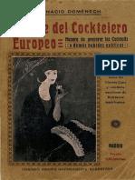 El Arte Del Cocktelero Eurpoeo (1912)
