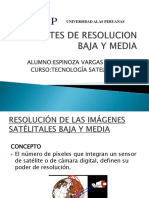 Satelites de Resolucion Baja y Media