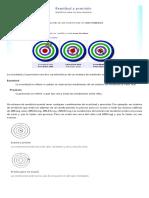 La Exactitud y La Precisión en La Medida