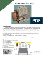 Paper Ear Model