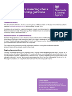 Phonics Screening Check 2014 Scoring Guide
