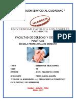 Las Obligaciones Alternativas y Facultativas y Sus Diferencias