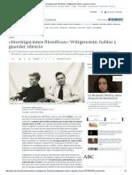 «Investigaciones Filosóficas»_ Wittgenstein, Hablar y Guardar Silencio