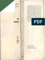 Horkheimer, Max - Sobre El Concepto Del Hombre y Otros Ensayos, Ed. Sur, 1970