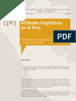 Actitudes Linguisticas en El Peru