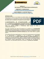 Modulo i La Nueva Gestion Pública y Las Competencias Gerenciales