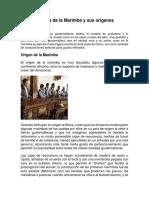 Historia de La Marimba y Sus Origenes