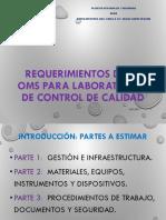 Requerimientos de La OMS_Laboratorios de Control de Calidad