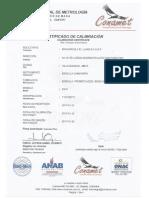 Certificado de Calibracion Bascula