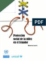 Proteccion Social de La Niñez en Ecuador
