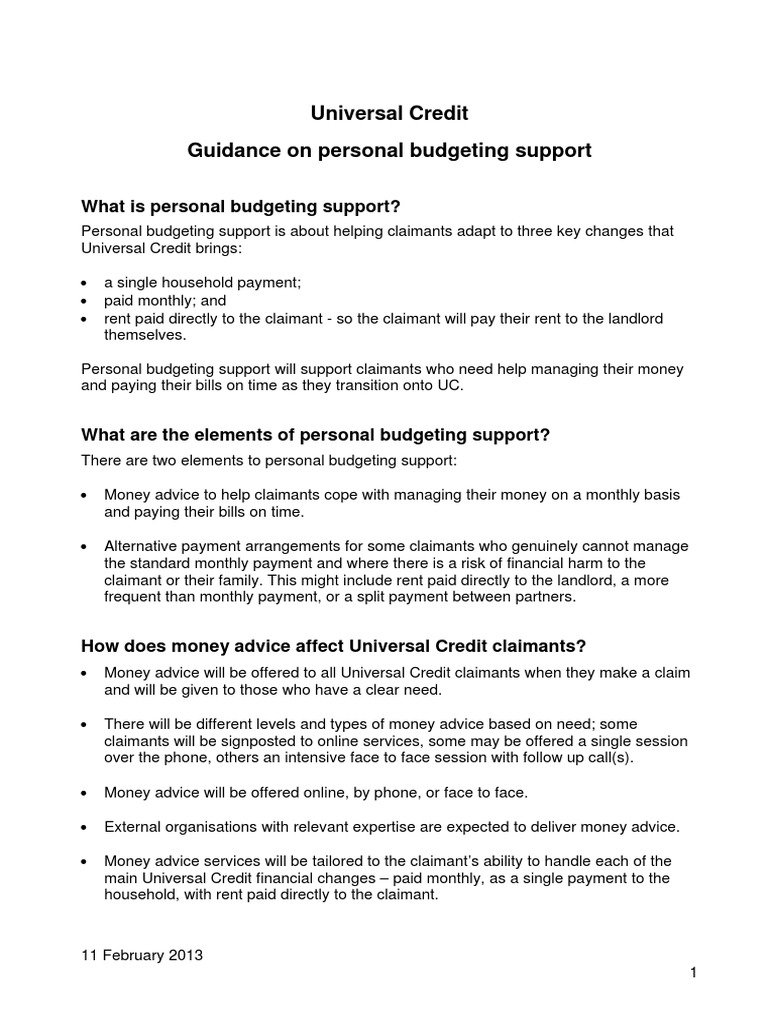 personal budgeting support guidance debt domestic violence