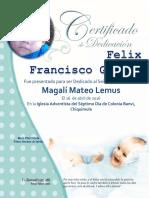 Certificado de Dedicación 2015