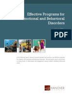 EffectiveProgramsforEmotionalandBehavioralDisordersHanover2013
