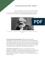 A Escola Austríaca de Economia NÃO Refutou Marx.