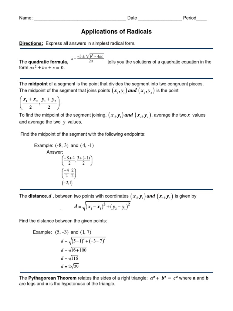 Midpoint Distance Worksheet | Elementary Geometry ...