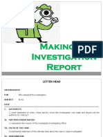 DIP Making of an Investigation Report