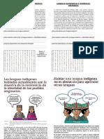 Ficha de Trabajo Lenguas Maternas-4TO FCC