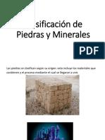 Clasificación de Piedras y Minerales
