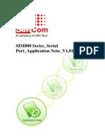 SIM800 Series Serial Port Application Note 1.01