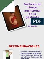 Factores de Riesgo en La Embarazada
