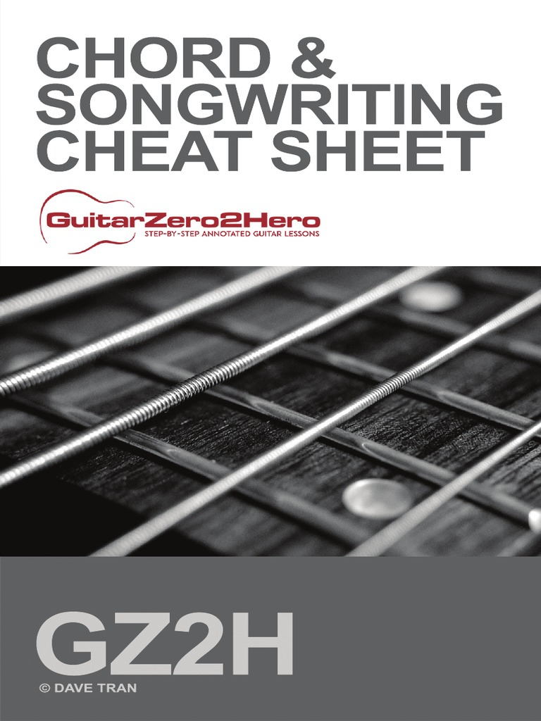 Guitar Chord Songwriting Cheat Sheet Irish Musical Instruments