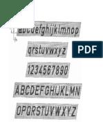 Letras DIN