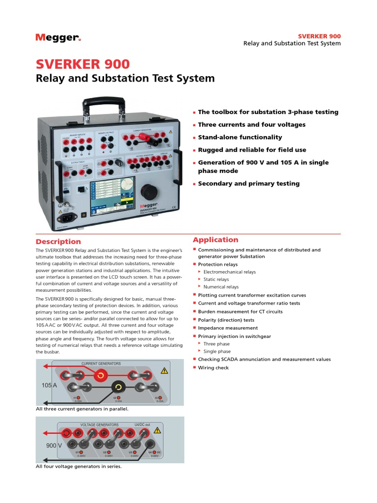 SVERKER900_DS_en_V05 pdf | Relay | Electrical Substation