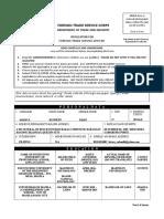 FTSC Application Form