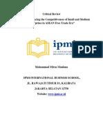 Critical Review Jurnal International
