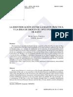 La identificación entre la razón práctica y la idea de Dios en el Opus Postumum de Kant..pdf