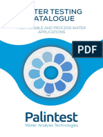 Palintest Water Testing Catalogue