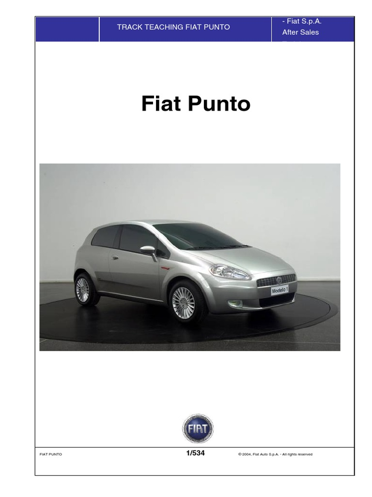 Fiat Grande Punto Service Manual ENGLISH - 2004 ... on
