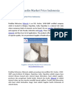 Supplier of Kaolin Market Price Indonesia