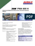 PMA 600 H Datenblatt Renitherm En