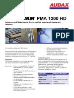 PMA 1200 HD Datenblatt Renitherm En