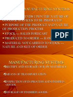 Type of Manufacturing System