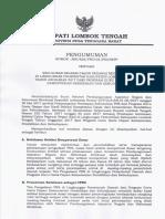 Pengumuman Kelulusan Seleksi Cpns Di Lingkungan Pemkab Lombok Tengah Dari Program Ggd Kemendikbud