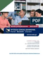 Informator 2017 - Studia Podyplomowe - Wyższa Szkoła Bankowa w Szczecinie