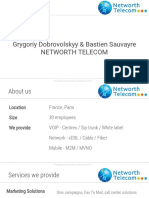 Customer presentation. Networth Telecom