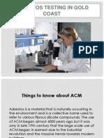 Asbestos Testing Goldcoast