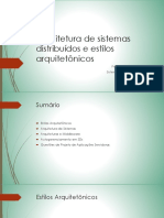 Arquitetura de Sistemas Distribuidos e Estilos Arquitetonicos