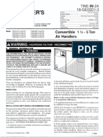 Trane TWE-In-2A 18-GE02D1-3 TWE030P130B0 Air Handler Installer's Guide Installation Manual (November 2001) Ocr