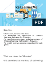 Distance Learning via Television